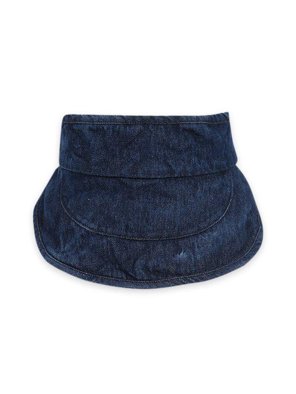 Sun-proof Wide Brim Denim Visor Cap - CADETBLUE
