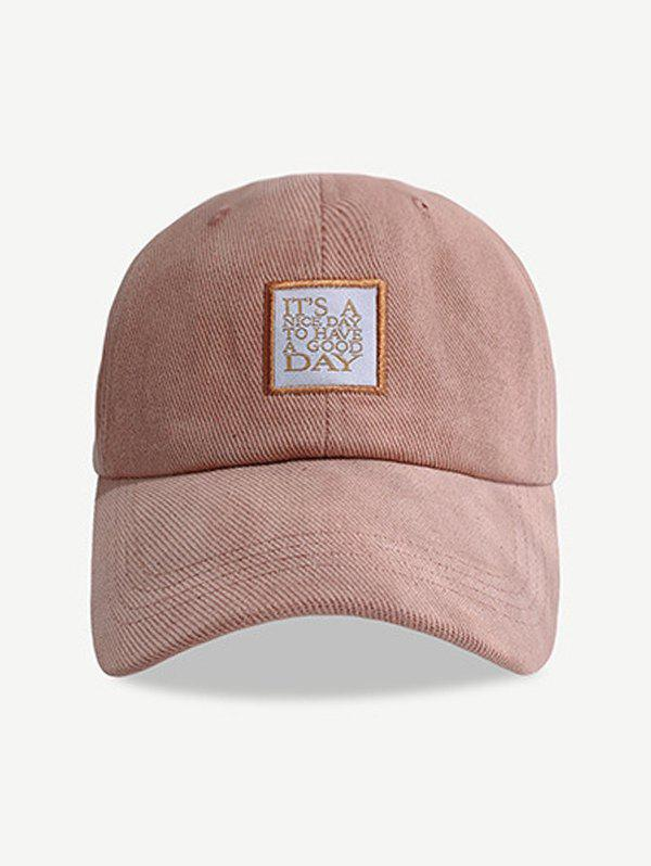 Embroidered Letters Pattern Baseball Cap - ROSE