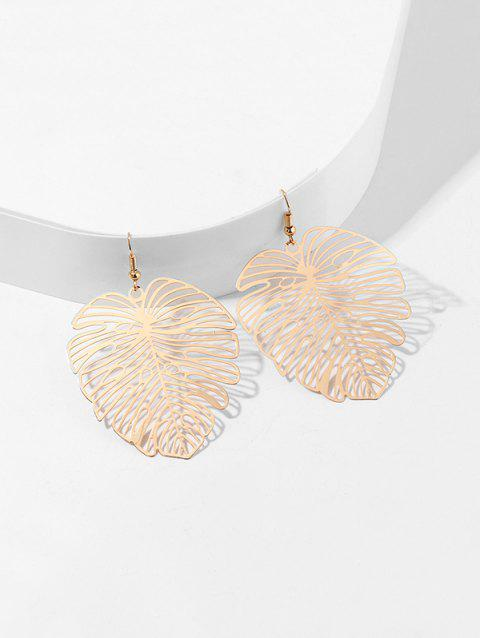 Tropical Leaf Hollow Out Earrings