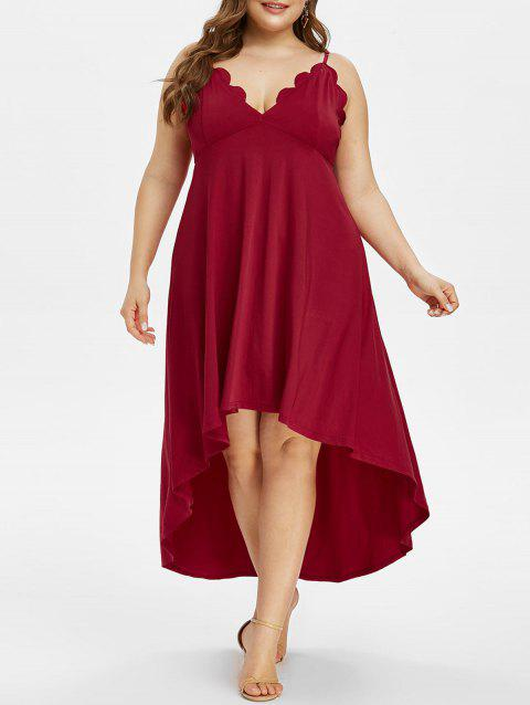 Plus Size Scalloped High Low Party Dress