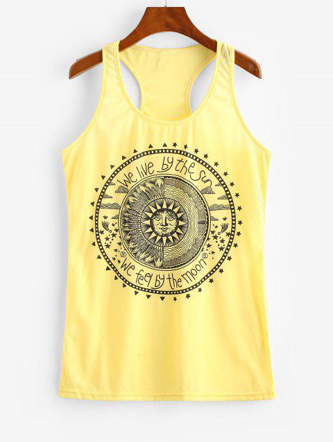 Astrology Sun Graphic Racer Tank Top