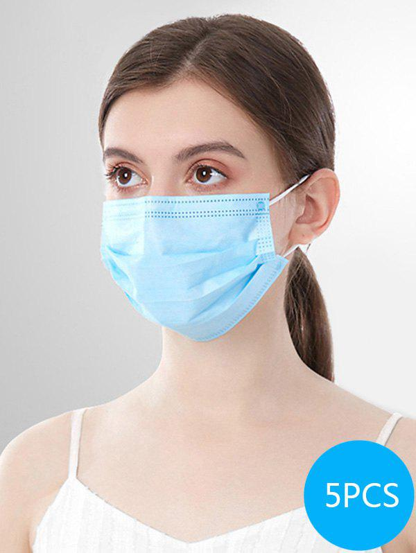 5PCS 3-layer Disposable Breathing Masks With FDA And CE Certification - SKY BLUE 5PCS