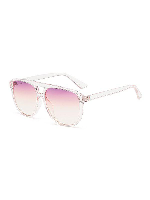 Retro Oversized Driving Square Bar Sunglasses - TRANSPARENT