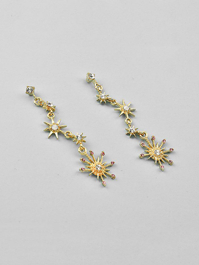Sparkling Star Shape Rhinestone Drop Earrings - GOLD