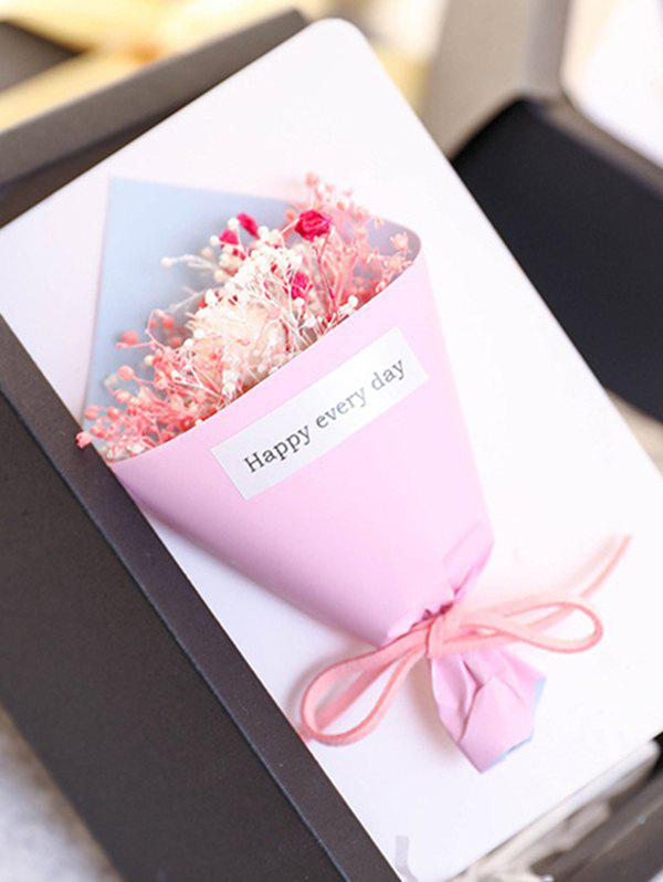 Mother's Day Gift Artificial Dried Flowers In A Box - multicolor A