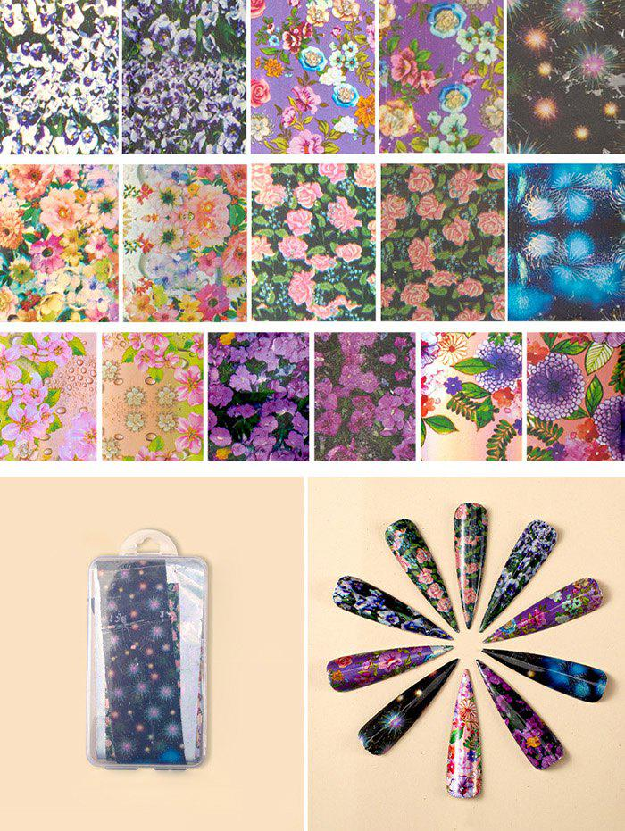 Flowers Pattern Nail Beauty Transfer Papers Set - 004