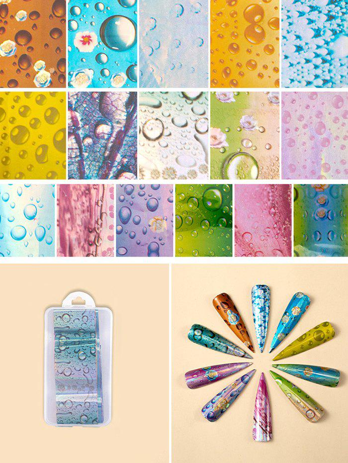 Flowers Pattern Nail Beauty Transfer Papers Set - 005