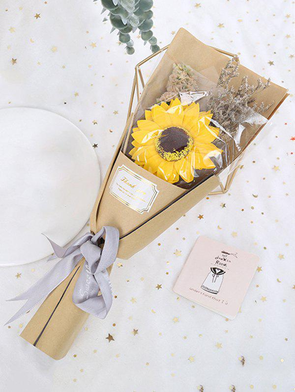 Mother's Day Gift Artificial Sunflower Dried Flowers - multicolor A