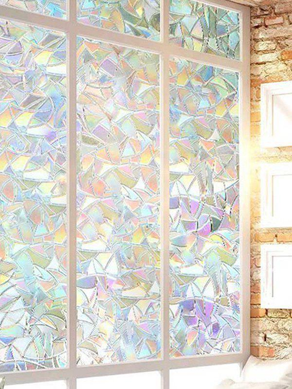 Removable Geometric Refraction Static Glass Window Film - multicolor A 45*100CM