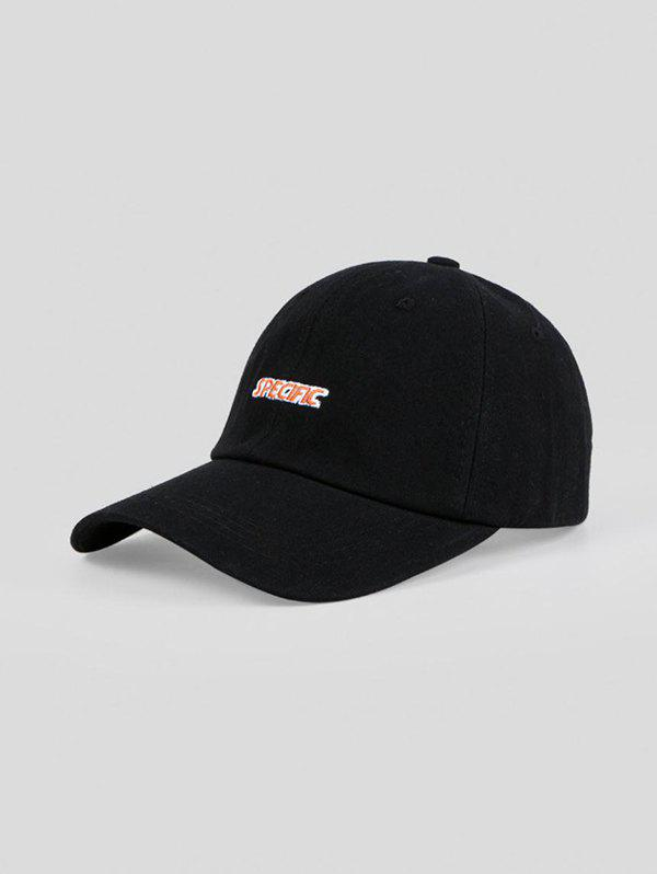 Outdoor Embroidery Letters Baseball Cap - BLACK ADJUSTABLE