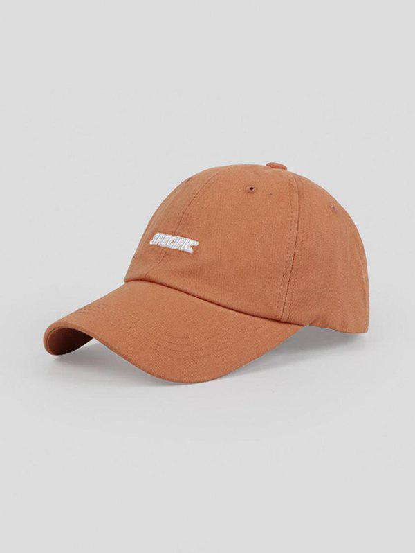 Outdoor Embroidery Letters Baseball Cap - CARAMEL ADJUSTABLE
