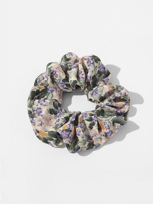 Ditsy Floral Fabric Elastic Scrunchie - PURPLE
