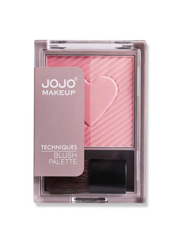 2 Color Powder Makeup Blush Palette - LIGHT PINK