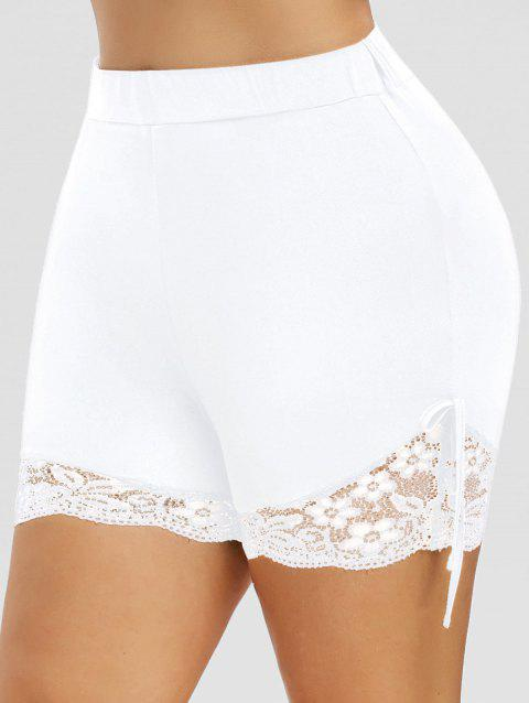 Plus Size Lace Panel Shorts