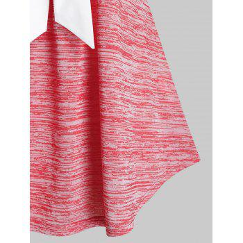 Plus Size Bowknot Marled Tank Top