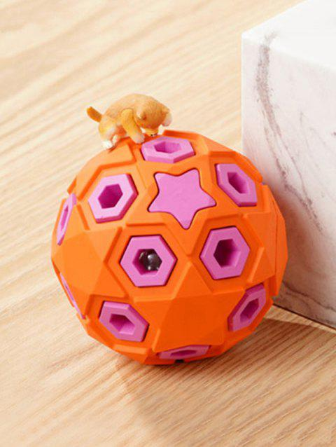 Layered Ball Shape Rubber Squeaky Dog Chew Toy