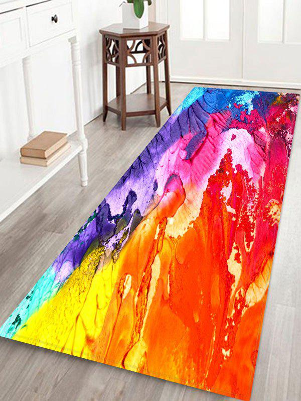 Abstract Oil Painting Floor Mat - multicolor A W16 X L47 INCH