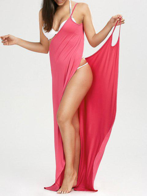 Wrap Solid Maxi Cover Up Dress