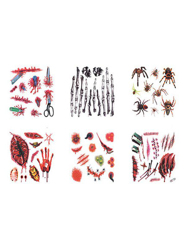 Horror Zombie Tattoo Stickers - multicolor A