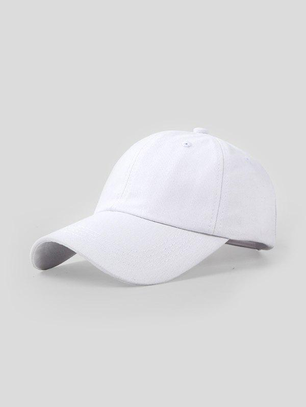 Casual Solid Summer Baseball Cap - WHITE