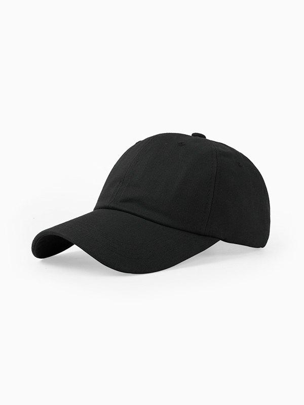 Casual Solid Summer Baseball Cap - BLACK