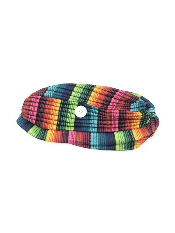 Colored Printed Mask Hanging Button Indian Hat - multicolor A