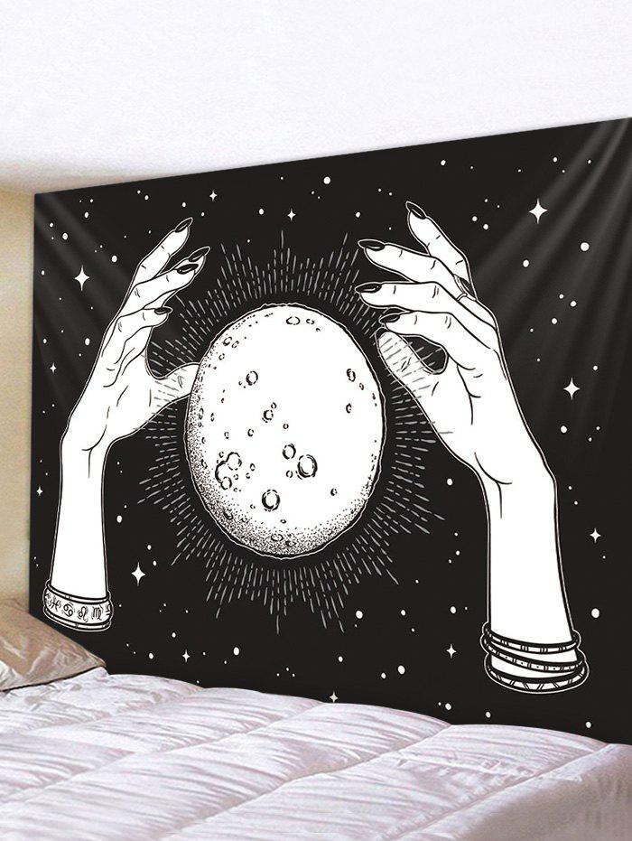 Darkness Hands Print Waterproof Removable Wall Tapestry - multicolor W59 X L51 INCH
