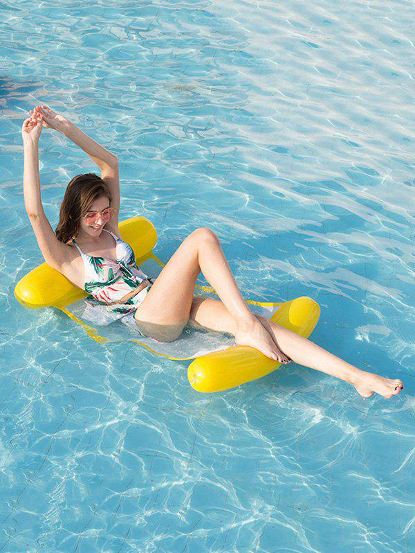 Inflatable PVC Water Floating Mat - YELLOW