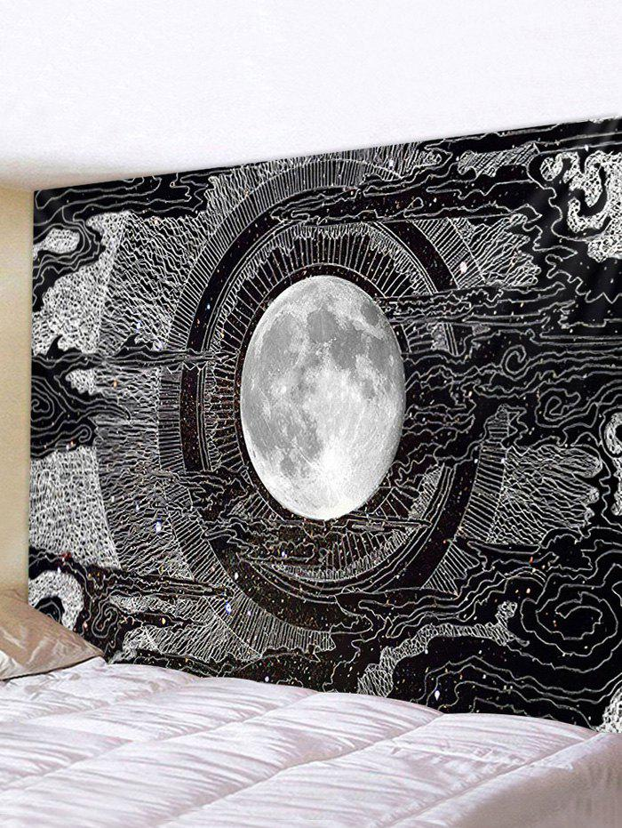 Earth Space Tunnel Print Removable Wall Tapestry - multicolor W91 X L71 INCH