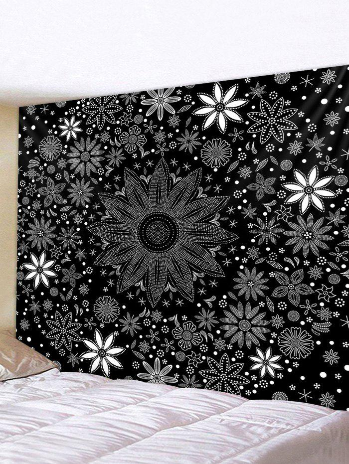 Floral Print Tapestry Wall Hanging Decorations - multicolor W91 X L71 INCH