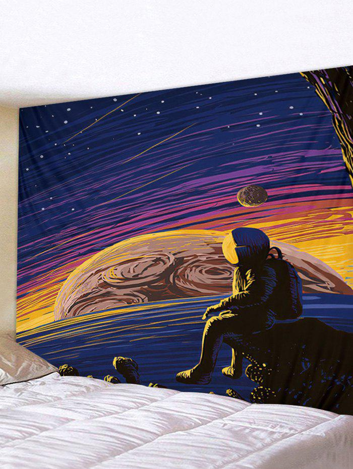 Digital Printing Space Planet Waterproof Tapestry - multicolor W59 X L51 INCH