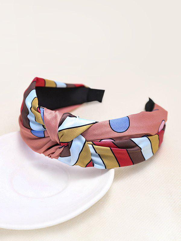Colorful Striped Knotted Headband - RED