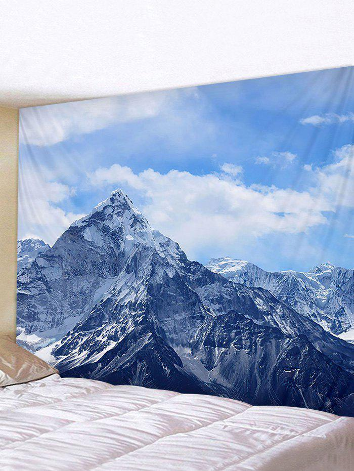 Fine Day Mountain Print Tapestry Wall Hanging Art Decoration - multicolor W59 X L51 INCH