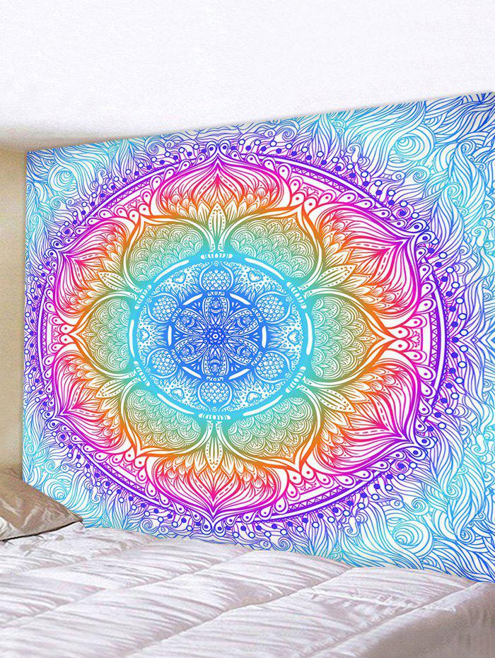 Colorful Bohemian Flower Print Tapestry Wall Hanging Art Decoration - multicolor W59 X L51 INCH