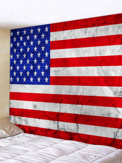 USA Flag Print Decorative Wall Hanging Tapestry