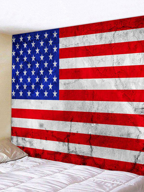 USA Flag Print Decorative Wall Hanging Tapestry - multicolor W91 X L71 INCH
