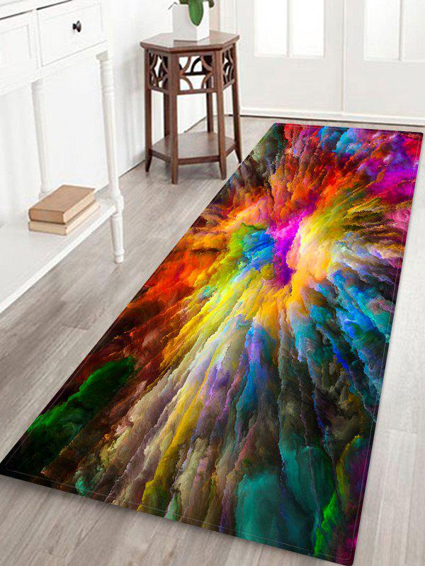 Colorful Explosion Clouds Pattern Water Absorption Area Rug - multicolor W24 X L71 INCH