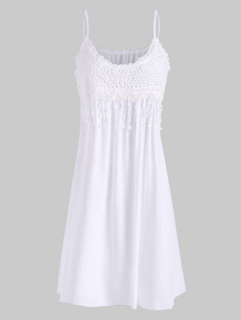 Cami Crochet Lace Panel Mini Dress