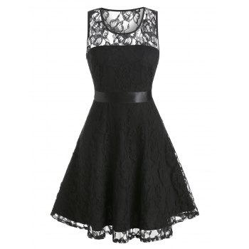 Floral Fit And Flare Lace Party Dress