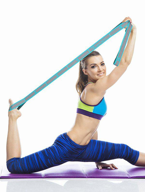 Yoga Stretch Band Exercise Resistance Band - LIGHT BLUE