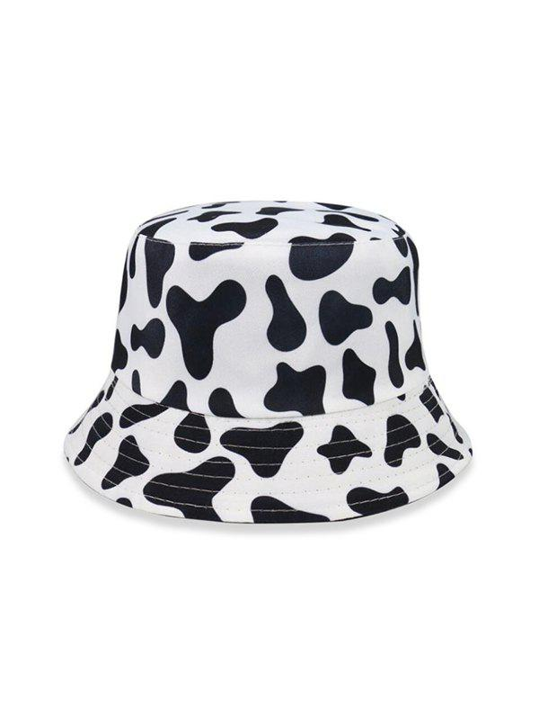 Cow Pattern Bucket Hat - BLACK
