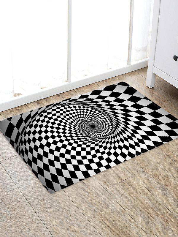 3D Plaid Vortex Pattern Water Absorption Area Rug - multicolor W16 X L24 INCH