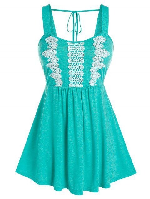 Plus Size Applique Fit And Flare Tank Top