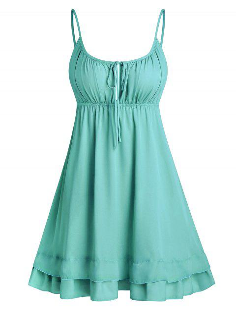 Open Back Tie Knot Flare Cami Dress