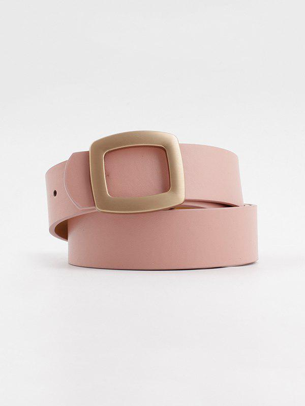 Hollow Square Buckle Wide Belt - PINK