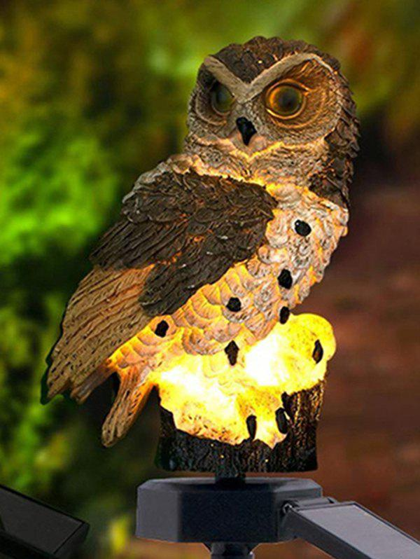 Outdoor Owl Shape LED Sun Energy Light - DEEP COFFEE