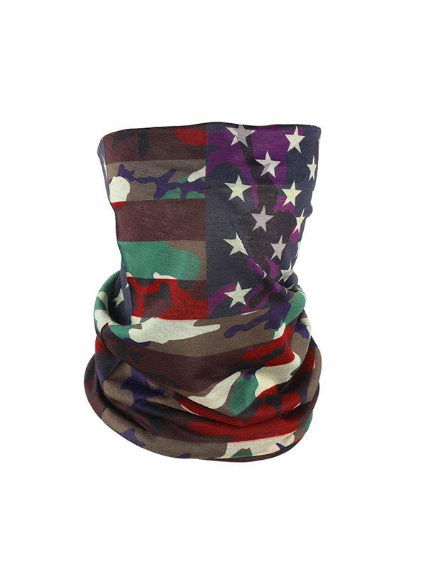 American Flag Pattern Riding Face Mask Neck Gaiter - multicolor B