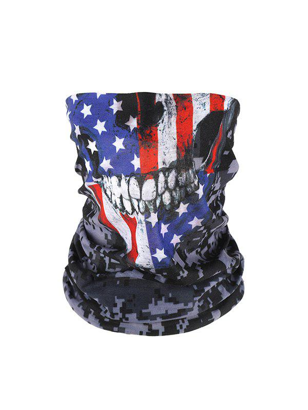 American Flag Pattern Riding Face Mask Neck Gaiter - multicolor A