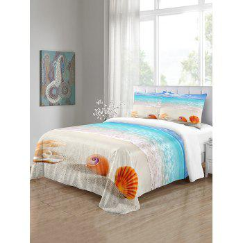 Beach Shell Pattern 3PCS Bedding Set