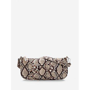 Snake Print Leather One Shoulder Bag